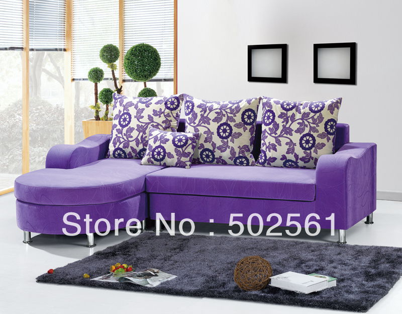 2014 new modern comfortable velvet fabric corner sofa sectional leisure living room furniture ottoman(China (Mainland))