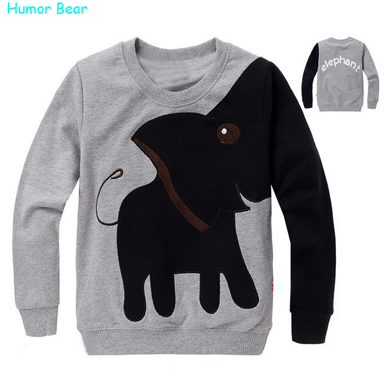 Humor Bear Lovely Elephant children kids boys girl's long Sleeve Sweatshirts Spring Autumn Casual baby sweater clothing - official store