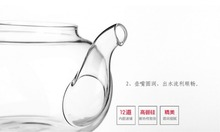 Special Offer creative effort resistant glass Tea set transparent filter Flower Teapot Set 6 tea cup