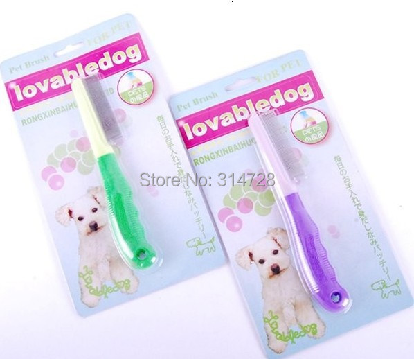 Free shipping close gap pet grooming products poodle dog finishing comb brush remove lice tool(China (Mainland))