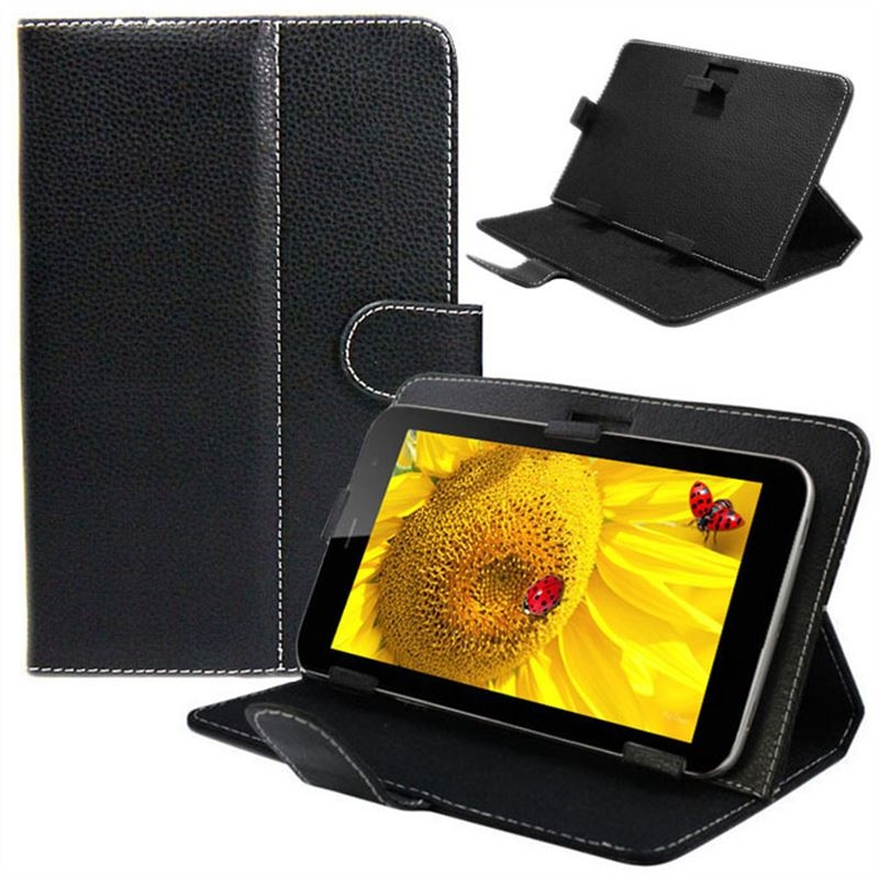 New universal leather stand cover case for 10 10 1 inch for Housse tablette 10 pouces