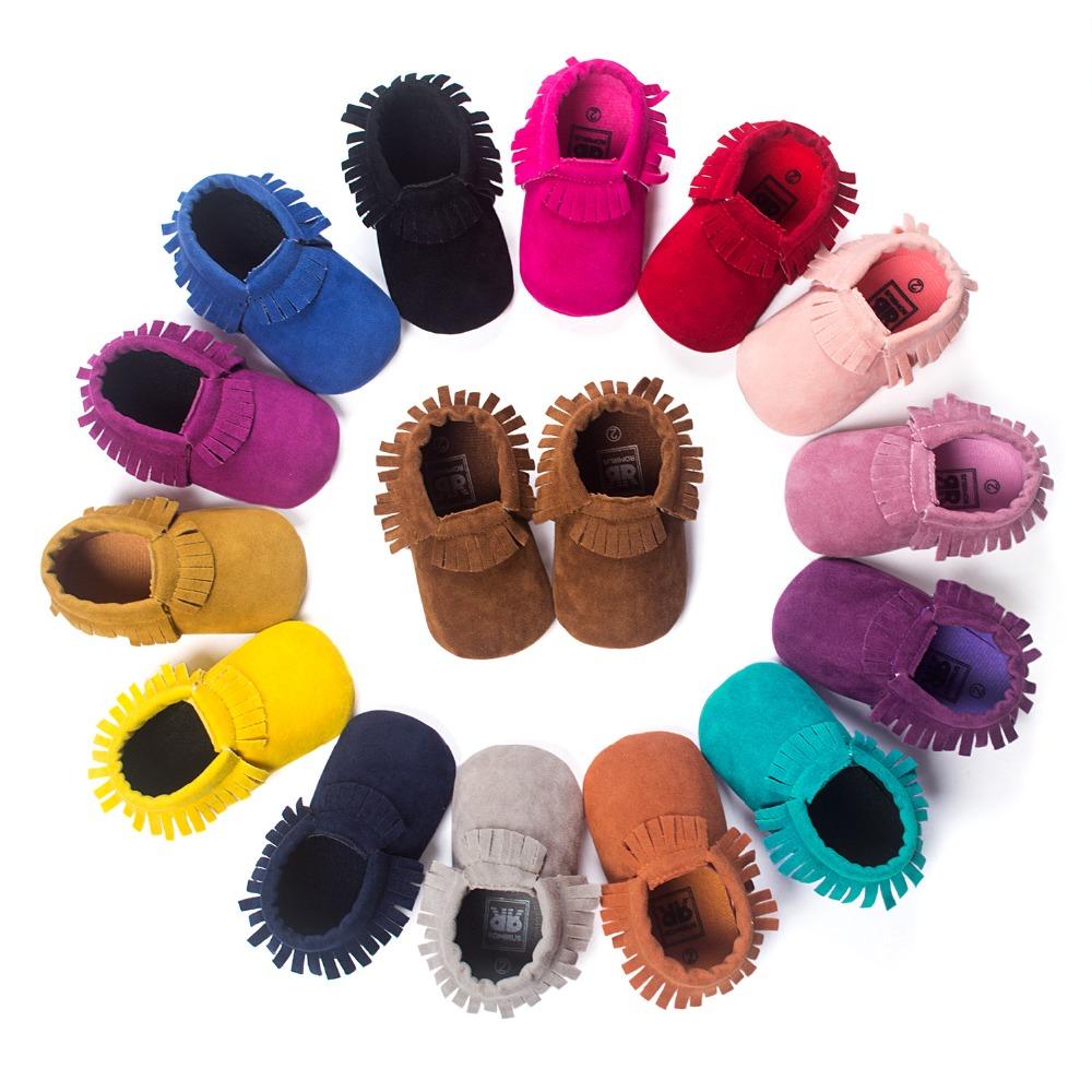 New PU Suede Leather Newborn Baby Boy Girl Baby Moccasins Soft Moccs Shoes Bebe Fringe Soft Soled Non-slip Footwear Crib Shoe(China (Mainland))