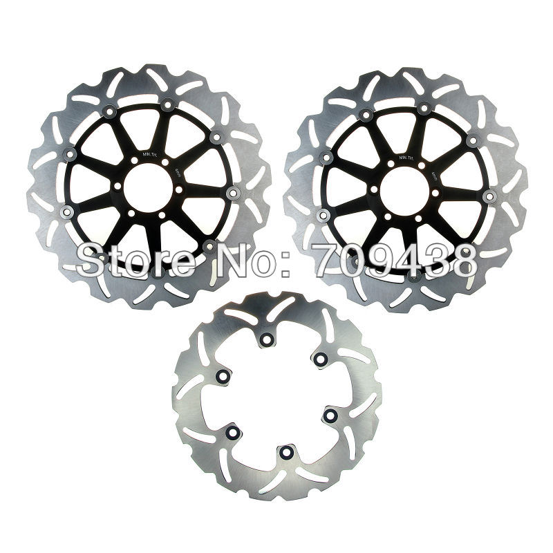Full Set Front Rear Brake Discs Rotors for KAWASAKI ER6 F ER6F 650 2006 2007 2008 ER6 N 650 06-11 KLE 650 Versys ABS 2007-2011