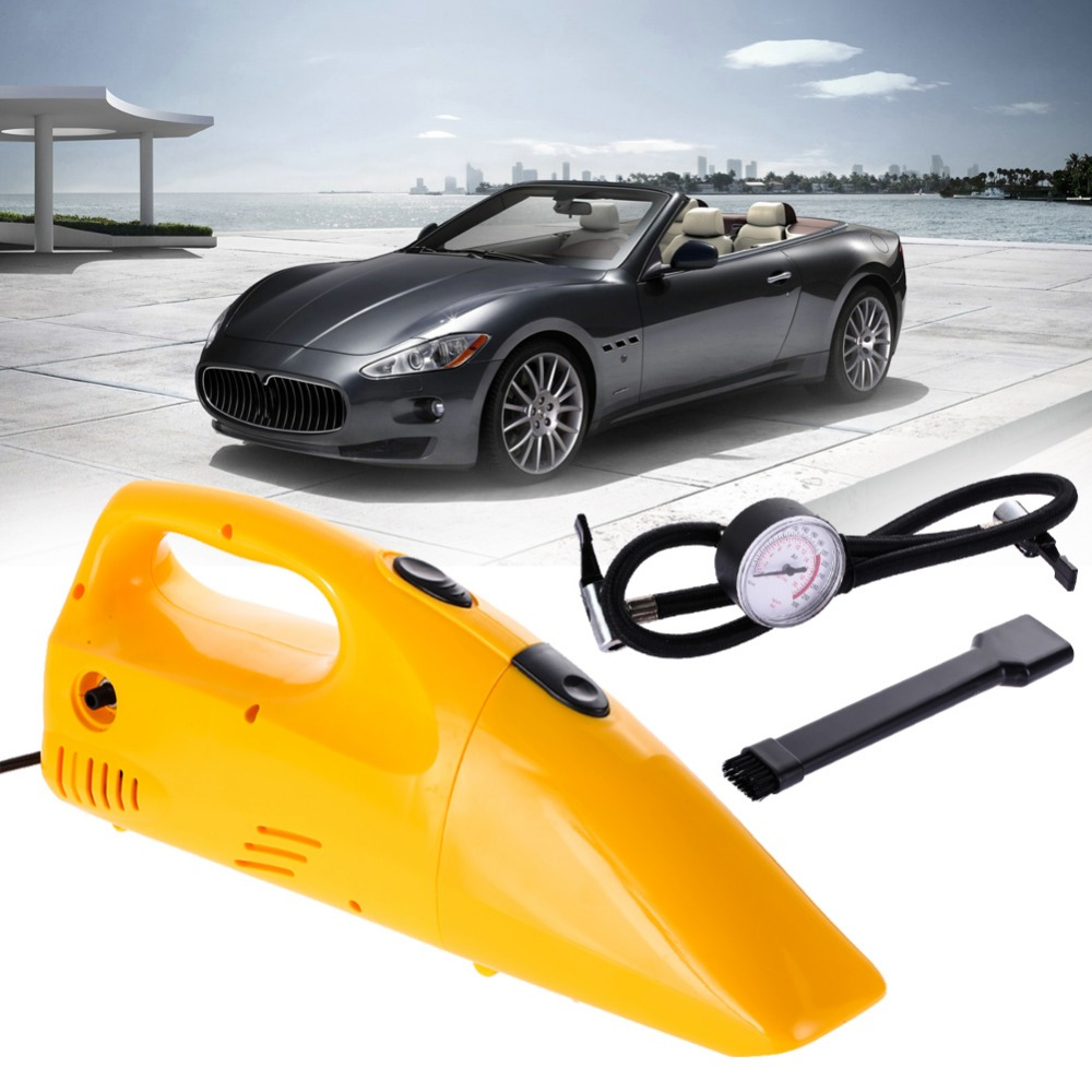 12V Car Vacuum Cleaner Portable Wet and Dry Dual Use Hand Hoover Cyclone Vacuum Cleaner & Car Air Compressor Pump Tire Inflator(China (Mainland))