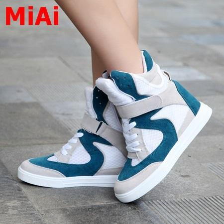 2015 new fashion shoes women casual sports shoes autumn winter women walking shoes in hightops multicolor shoes women sneakers(China (Mainland))