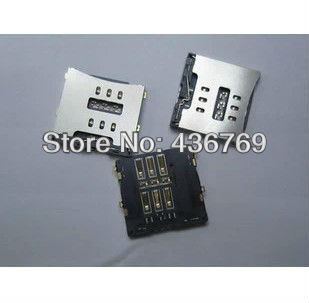 20pcs/lot Sim Card Connector Reader Tray Socket for iPhone 4 4g 4S free shipping