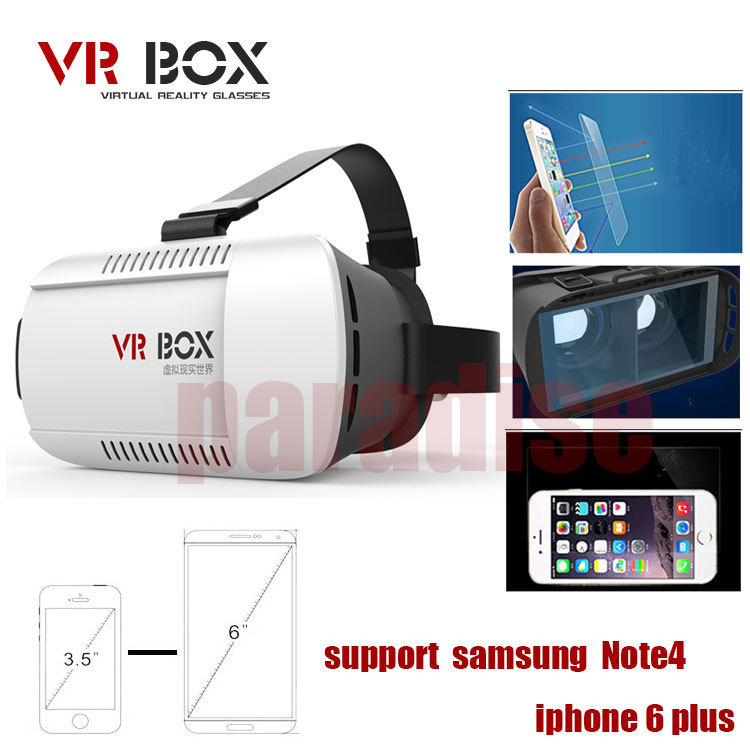 2015 VR BOX Google VR glasses 3D realidade Virtual DIY Google ABS Plastic Headmount for 3