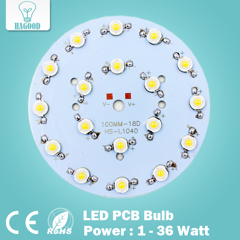 DHL FEDEX 100pcs 9W 12W 15W 18W 21W 24W 30W 36W LED Star HIGH POWER with Aluminum Base Plate radiator, LED Board Panel Circular(China (Mainland))