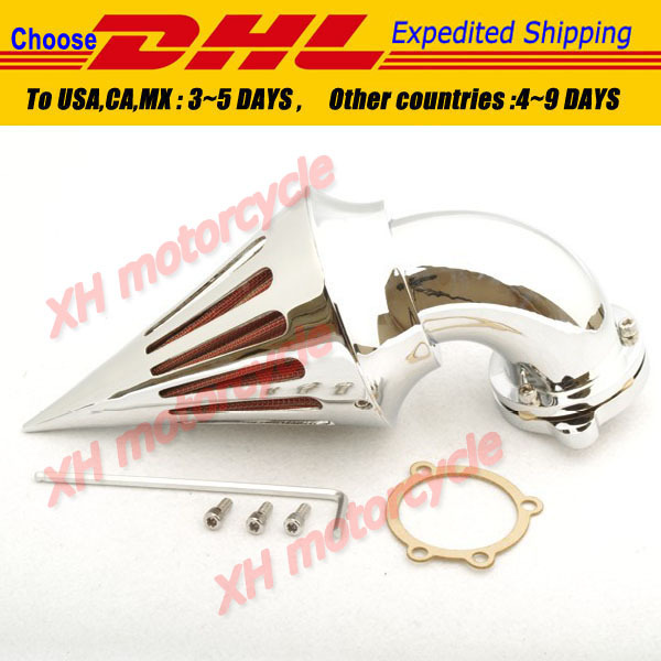 motorcycle parts Spike Air Cleaner filter kits for  Harley Davidson  S&S custom CV EVO XL Sportster CHROME