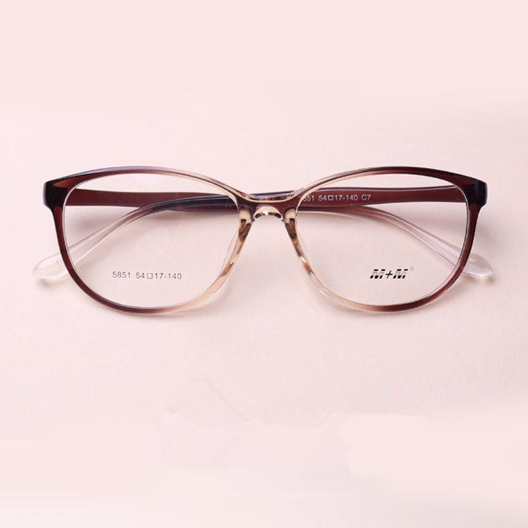 TR 90 Cat Eyes Black Brown Wine Red Eyeglasses Fresh Myopia Spectacle Student Fashion Prescription Glasses Frame(China (Mainland))