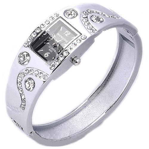 2014 New Hot Fashion Women Bracelet Bangle Wave Rhinestone Crystal Wrist Watches 3FMN<br><br>Aliexpress