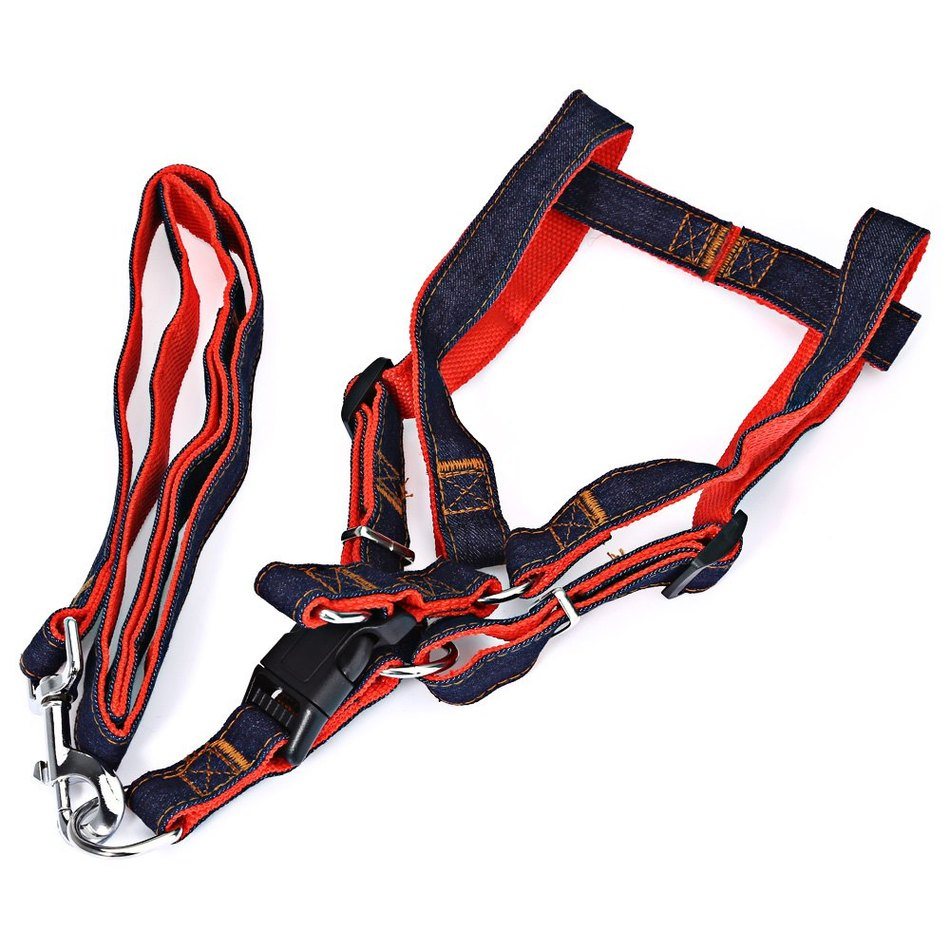 Adjustable Pet Dog Nylon Leash Cowboy Harness Rope Anti-bite Safety Strap Belt Pet Supplies Dog Collar Designer Product for Dogs(China (Mainland))