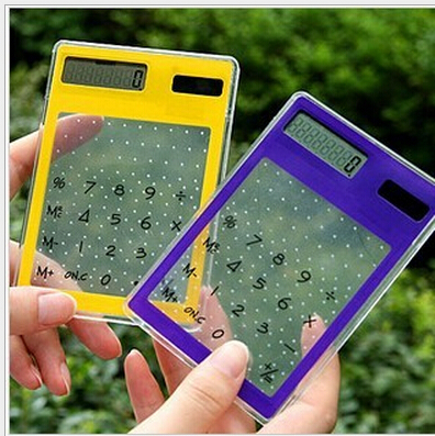 1pcs Mini Calculator 8 Digit Solar Touch Screen Counter Calculating Tool (2015048)(China (Mainland))