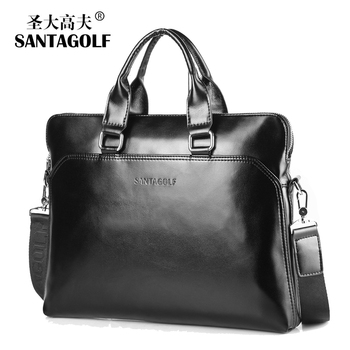 2015 fashion soft leather men bag brand handbags business laptop bag vintage pu leather men briefcase bolsas male shoulder bag