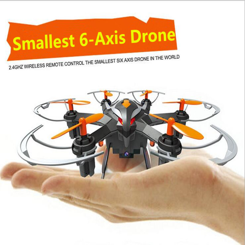 Smallest 6-Axis Drone YIZHAN I6S 2.4G 4Ch 6-Axis RC Helicopter Quadcopter 2.0MP HD Camera One Key Return Compass Mode 3D Rolling<br><br>Aliexpress