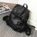 Fashion Genuine Leather Backpack Women Solid Color Soft Zipper Bag Trendy Travel Bag Ladies Sheepskin Backpack