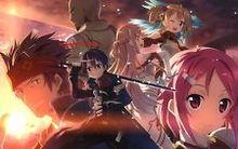 Free shipping SAO Sword Art Online Kirito & Asuna Japan Animeart Silk Wall Poster 24×36″ SAO2