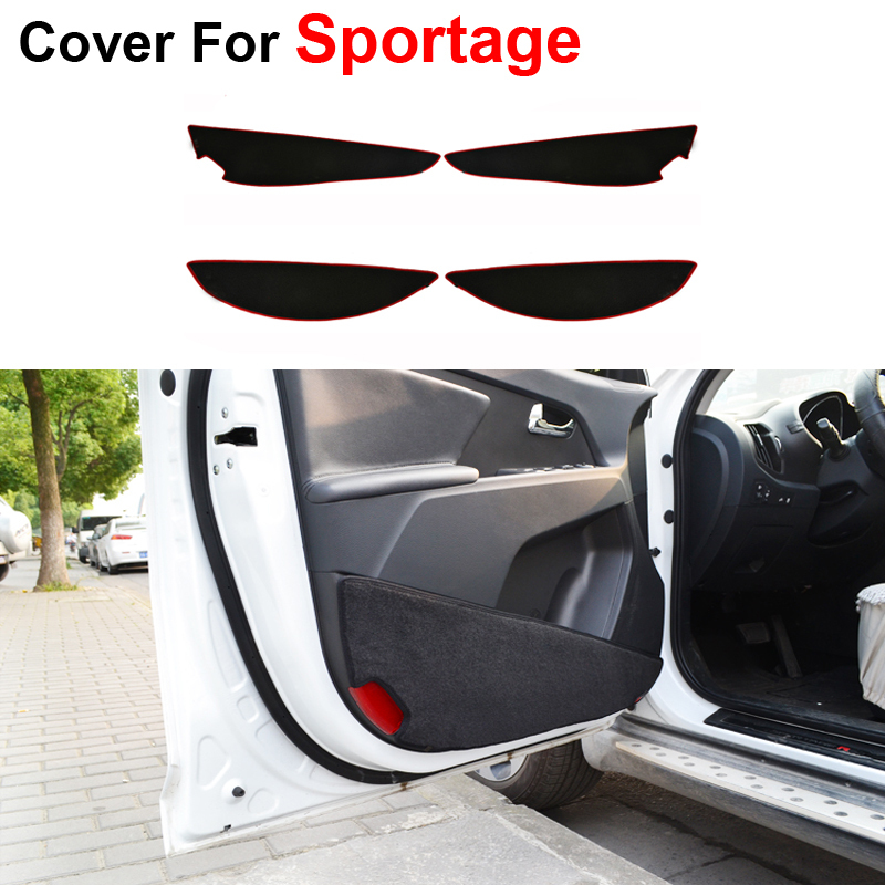 Car Styling Door Protecter Side Edge Protection Pad For KIA Sportage 2011 2012 2013 2014 2015 Anti-kick Mat Free Shipping(China (Mainland))