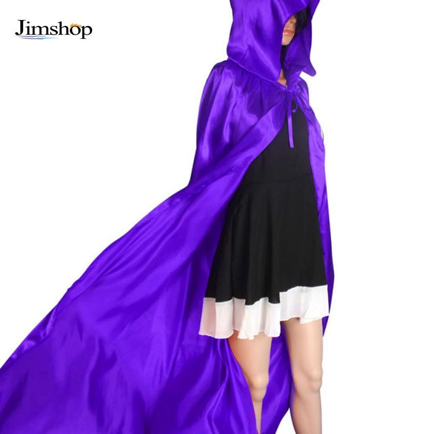 Jimshop Black/Red/Purple Halloween Hooded Cloak Coat Wicca Robe Medieval Cape Wedding Cloak Cosplay Coat Shawl(China (Mainland))