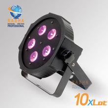 10X LOT New Arrival ADJ 5*18W 6in1 RGBAW+UV Mega Quadpar Profile LED Par Light , DMX Par Can,American DJ Light For Event Party(China (Mainland))