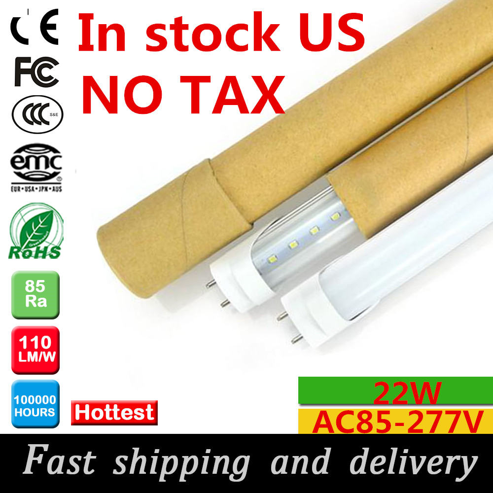 led tube 4ft 22W led tube light t8 1200mm AC85-277v led fluorescent tube lamp in US warehouse fast shipping and delivery(China (Mainland))