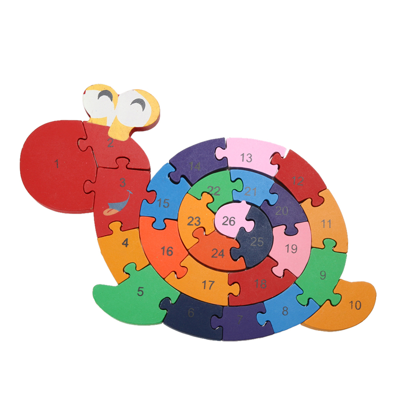 Educational Toys Brain Game for Kids Winding Snail Wooden Toys Wood Tetris 3D Puzzle Wood Brinquedo Madeira Kids Jjigsaw Puzzles(China (Mainland))