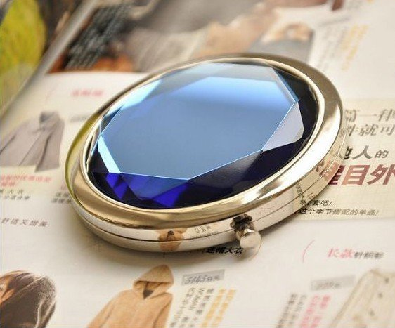 Min.order is $15 (mix order) Fashion Makeup Mirror Crystal Lovely portable handy mirror AQ2479