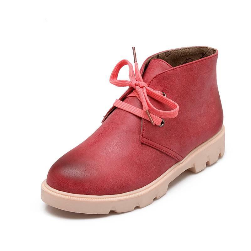 ซื้อ พลัสSize34-43 2016ใหม่เซ็กซี่ผู้หญิงฤดูใบไม้ร่วงหนาสูงปั๊มลูกไม้ขึ้นสั้นรองเท้าขี่ฤดูหนาวหญิงหิมะรองเท้าSBT1828