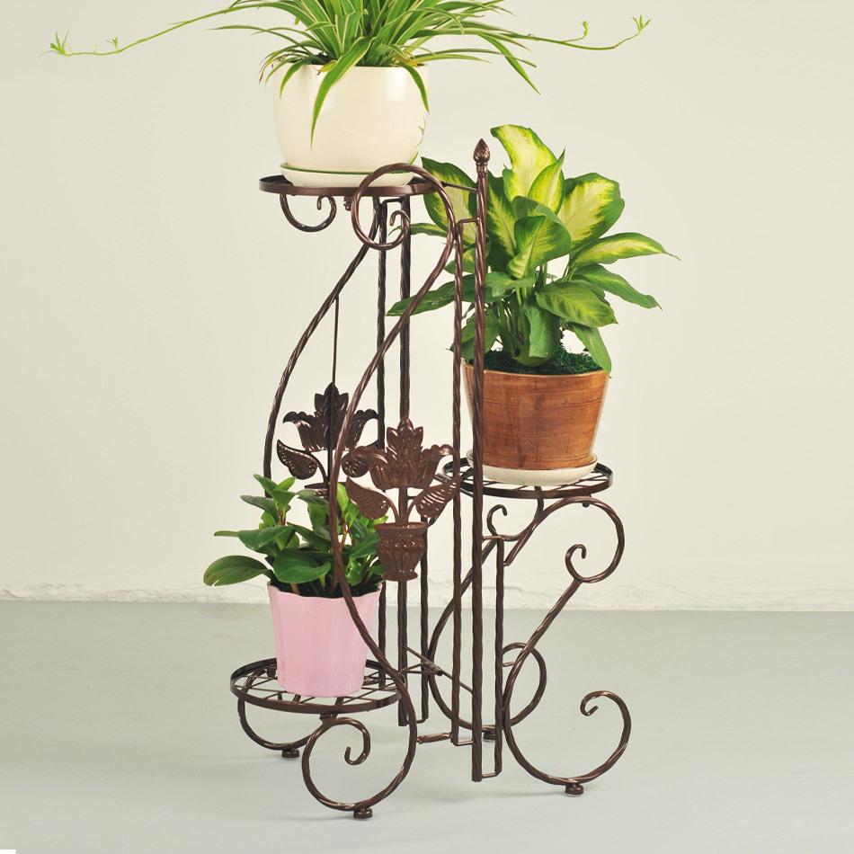 Continental Iron balcony flower pots shelf multi- floor- living room interior spend a few 0034(China (Mainland))