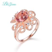 L & цзуань стерлингового серебра покрытием из розового золота кольца 2.6ct Турмалин Красный Каменный Зубец Параметр благородный модные Кольца для женщина(China (Mainland))