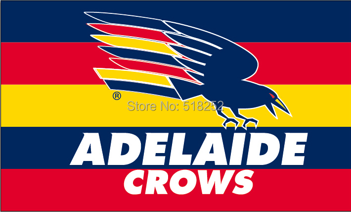 AFL adelaide crows Flag 3x5 FT 150X90CM Banner 100D Polyester flag 2001, free shipping(China (Mainland))