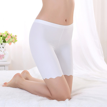 Hot Sale Summer Seamless Safe Short Underpants for Women Smooth Silky Underwear Great Elasticity 3 sizes XL 2XL 3XL(China (Mainland))