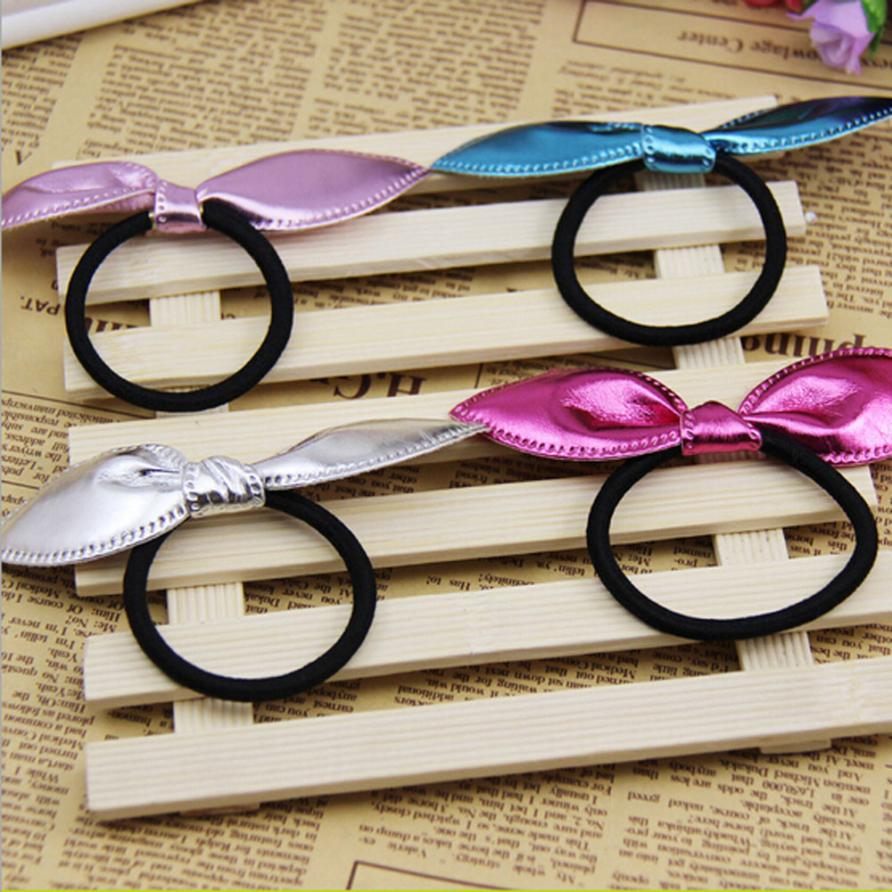 4pcs Cute Single Sequin Rabbit Ears Rubber Band Baby Girl Hair Accessories Bands Hair Elastic Accessories Girl Women #3546(China (Mainland))