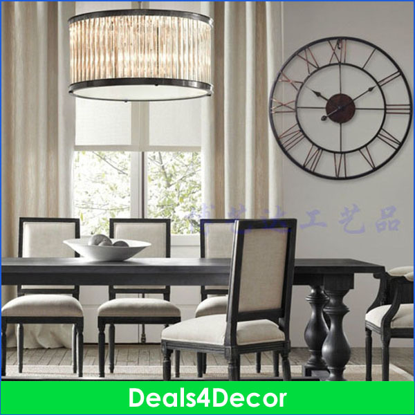 metal large wall clock blue green white wall clock for living room