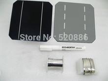 40 шт 5 x 5 A класс моно солнечный элемент + поток ручка + датчик цели и фона проволока + автобус проволока солнечный батарей для своими руками 100 w солнечный панель