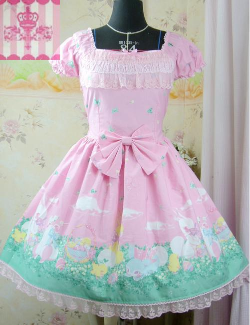 2015 Sweet Lolita dress for women Pink printed flowers garden cute lovely Princess Cosplay costumesОдежда и ак�е��уары<br><br><br>Aliexpress