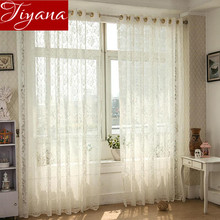 Buy Jacquard Curtain Gauze Lace Curtains Voile Panel Modern Living Room Kitchen Balcony Window Screen Curtains Sheer Tulle T&031 #20 for $10.48 in AliExpress store