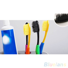 4Pcs Bamboo Charcoal Nano Brush Home Oral Care Double Ultra Soft Toothbrushes 4DGO