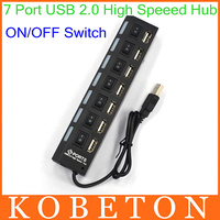 AK USB Hub Super Speed 7 ports LED Indicator 5Gbps ON/OFF Sharing Switch For Laptop PC Windows XP Win7/8 Linux,Mac OS