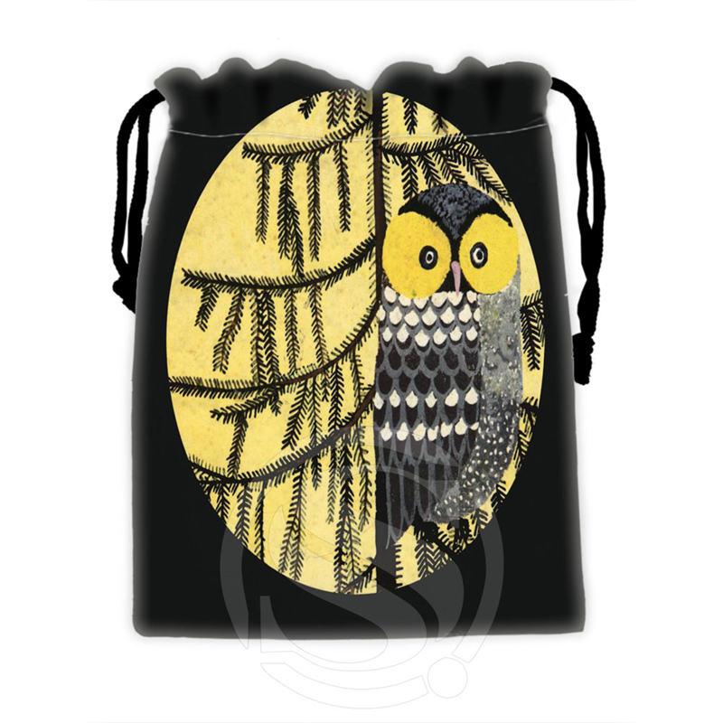 Best Nice Custom owl #6 drawstring bags for mobile phone tablet PC packaging Gift Bags18X22cm SQ00715-@H0313(China (Mainland))