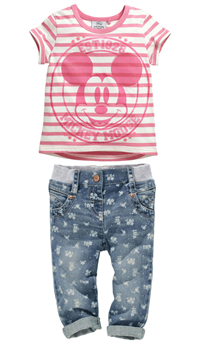 free shipping 2014 new arrive baby girl's clothing children cartoon stripe jeans set summer short-sleeve clothes reatil CCS135(China (Mainland))