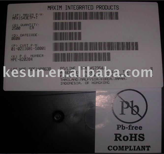 100% New MAX1543E 1543E MAX1543ETP TFT LCD DC-to-DC Converter with Operational Amplifiers QFN 20pins IC CHIP (MAX1543ETP+T)(China (Mainland))