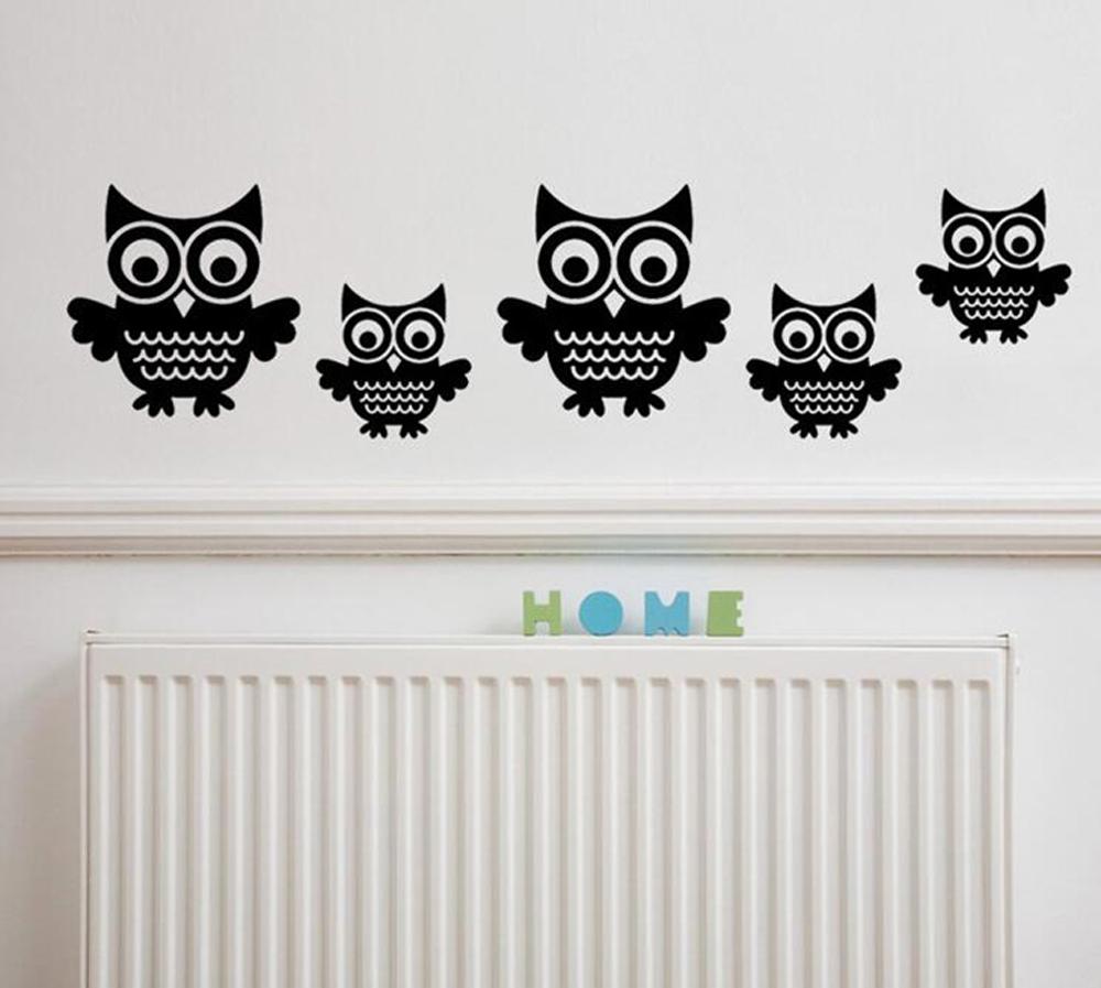 Owl On Tree Wall Sticker Vinyl Modern Decor Walls Art Stickers Decal Living Room(China (Mainland))