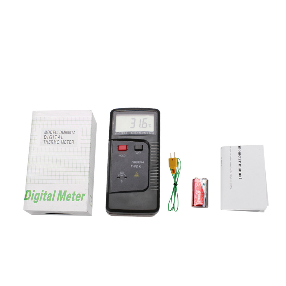 Portable DM6801A LCD Display Digital Thermometer K-Type Temperature Tester Stock Offer<br><br>Aliexpress