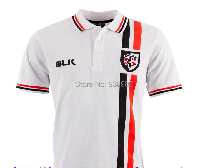 Wholesale 2014-2015 France Stade Toulousain Jersey Men Short Sleeve Rugby Shirt sportswear american football jersey Polo Shirt(China (Mainland))