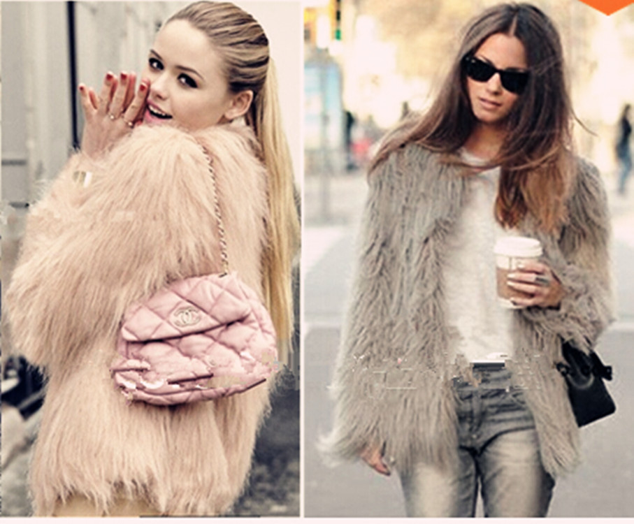 Winter 2015 New Europe imitation fur coat specialty Maomao girls long paragraph 5 color star - Blue International Co,.Ltd store
