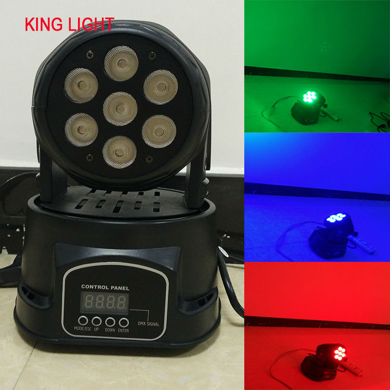 LED moving head par led rgbw mini wash 7x12w quad Light with advanced channels Fast Shipping(China (Mainland))