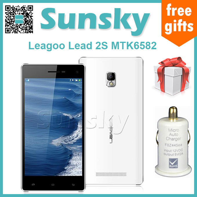 Original Leagoo Lead 2s MTK6582 Quad Core Mobile Phone Android 5.0 Inch HD IPS 1GB RAM 8GB ROM 13MP Camera Cell Phones(China (Mainland))