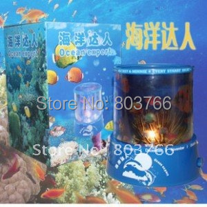 Free Shipping Special offer!novelty ocean expert Constellation Light project LED lamp Auto-spinning LED Projector Night Light