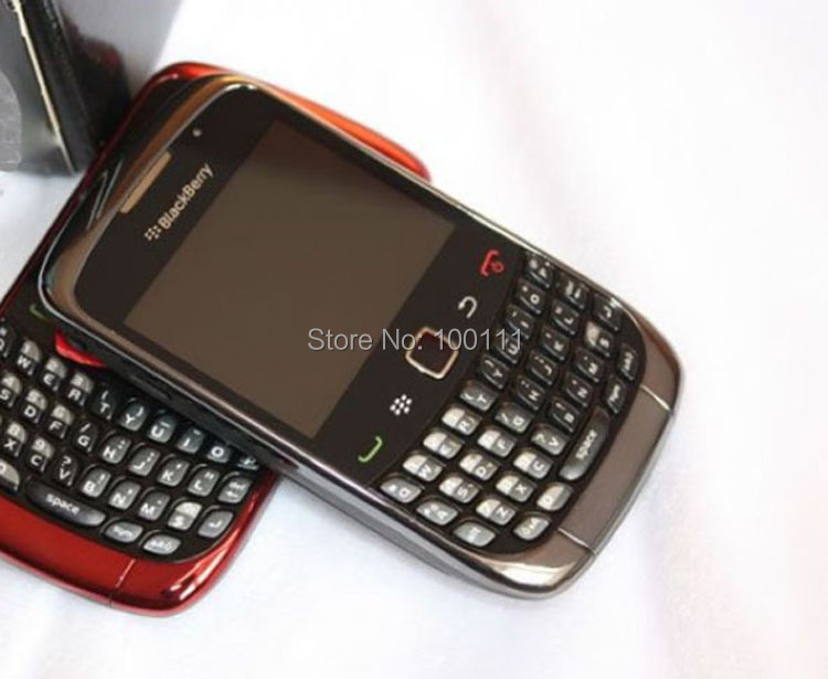 Original Blackberry Curve 9300 cell phone QWERTY Keyboard 2MP Camera Mobile phone Free Shipping(Hong Kong)